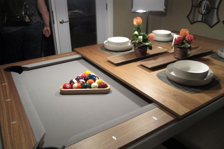 Dining Table That Turns Into Pool Table • MyBooThang