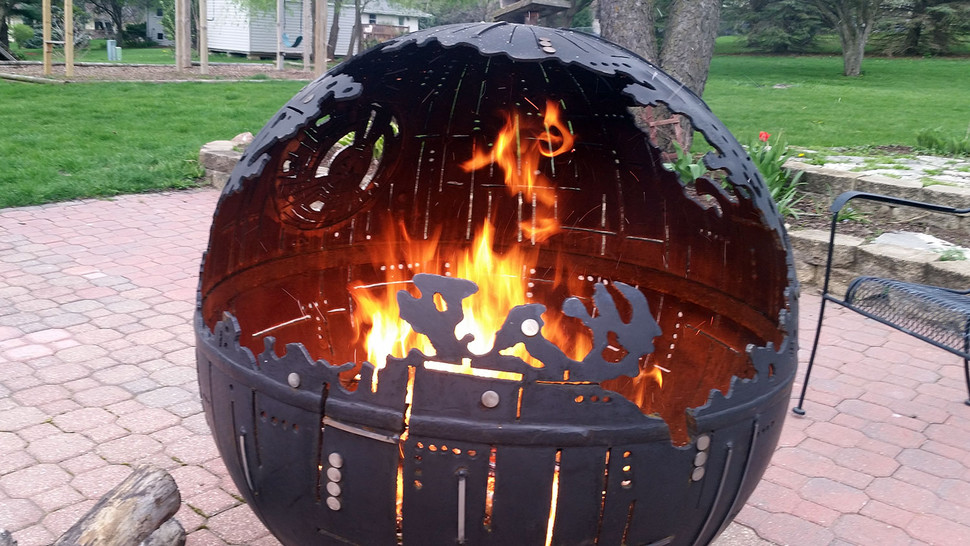 Ordinary Star Wars Death Star Fire Pit Part - 8: Star Wars Death Star Fire Pit